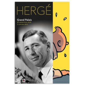 Poster - Utställningsaffisch - Hergé au grand palais