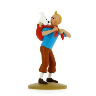 Tintin - Statyett - Tintin med Milou på ryggen