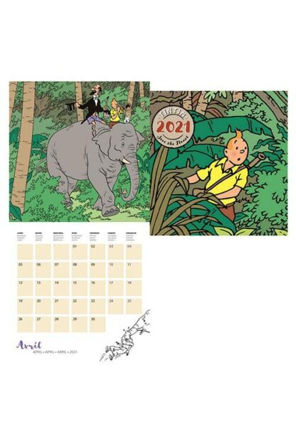Tintin - Kalender 30 x 30 cm
