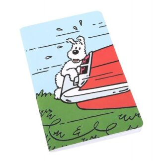 Tintin - Anteckningsbok - Milou på bil