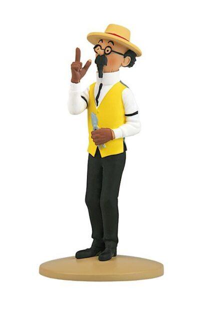 Tintin - Statyett - Professor Kalkyl som trädgårdsmästare