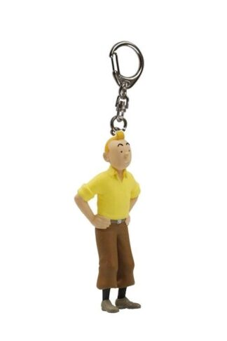 Tintin - Nyckelring i plast - Tintin händerna i sidan