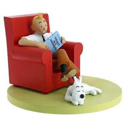 Tintin och Milou i röd stol - Resin
