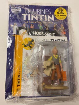 Tintin - Statyett N95 - Tintin med väska och rock - RARE