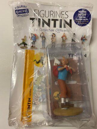 Tintin - Statyett N39 - Tintin bär på Milou - RARE