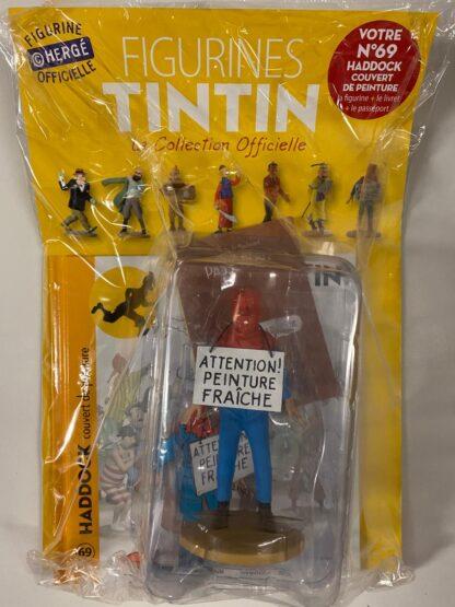 Tintin - Statyett N69 - Haddock Couvert De Peinture - RARE