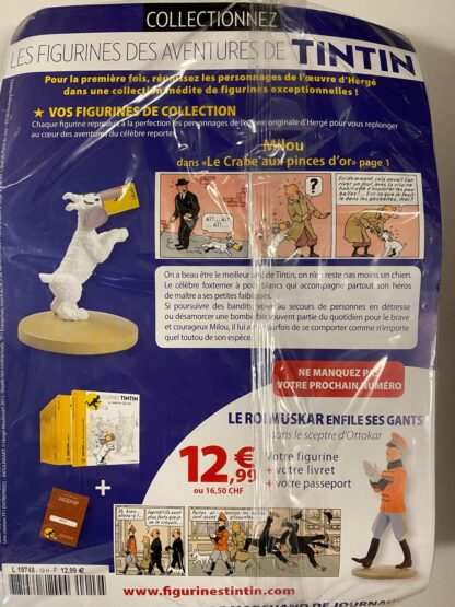 Tintin - Statyett N19 - Milou Le Crabe Aux Pinces D'or - RARE