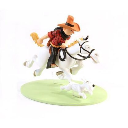 Tintin - Statyett - Tintin på häst