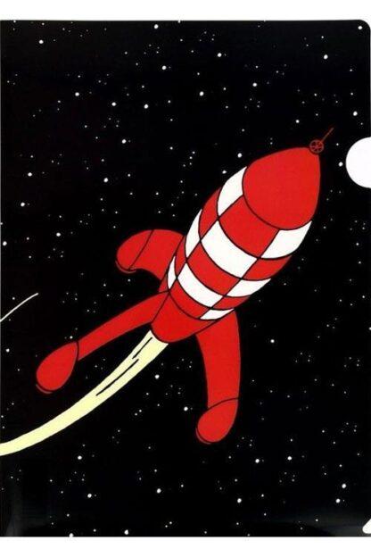 Tintin - Plastficka A4 - Raket i rymden
