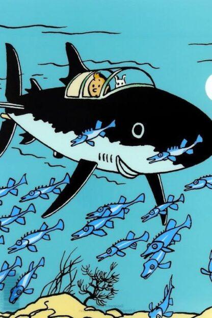 Tintin - Plastficka A4 - Hajubåt