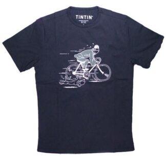 Tintin - T-Shirt - Tintin och Milou cyklar