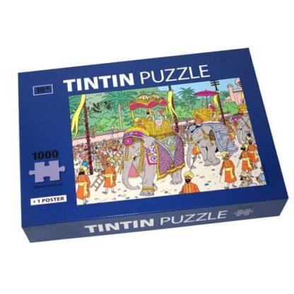 Tintin - Pussel - Elefanttåg