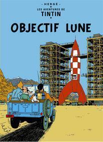Poster - Tintin Objectif Lune - Månen tur och retur (del 1)