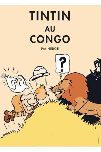 Poster - Tintin au Congo - Tintin i Kongo Originalfärger