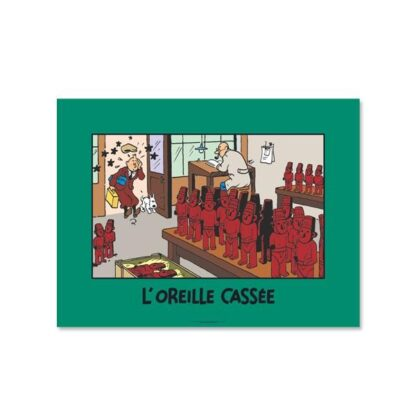 Poster - L'Oreille Cassée - Det sönderslagna örat - Scenposter