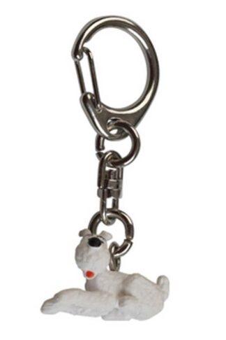 Tintin - Nyckelring i plast - Milou ligger