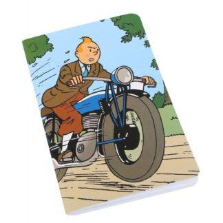 Tintin - Anteckningsbok - Tintin på motorcykel