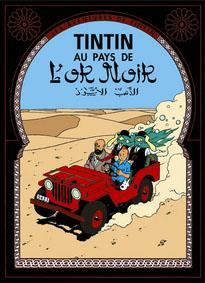 Poster - Tintin Au pays de L'or noir - Det svarta guldet