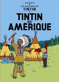 Poster - Tintin en Amérique - Tintin i Amerika