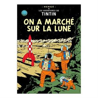 Poster -Tintin On a marché sur la lune -Månen tur och retur del2
