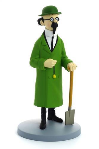 Tintin - Statyett - Professor Kalkyl på med spade