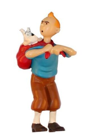 Tintin - PVC - Tintin med Milou på ryggen