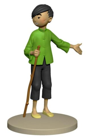 Tintin - Statyett - Tchang visar Hou Kou