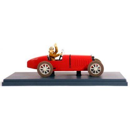 Tintin - 1:24 Modellbil #41 - Bugatti - Bobby Smiles
