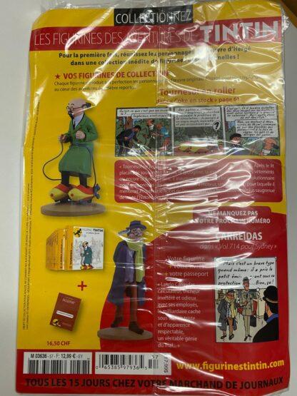 Tintin - Statyett N57- Professor Kalkyl på rullskridskor - RARE