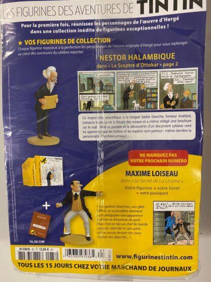 Tintin - Statyett N87 - Nestor Halambique - RARE