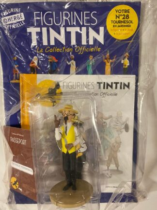 Tintin - Statyett N28 - Turnesol, Professor Kalkyl - RARE