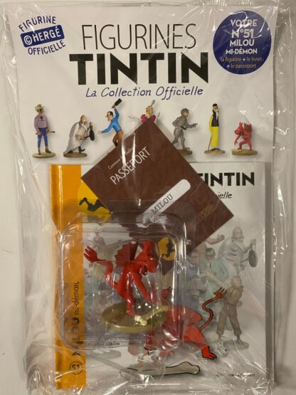 Tintin - Statyett N51 - Milou Mi-Démon - RARE