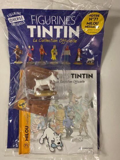 Tintin - Statyett N71 - Milou Messager - RARE