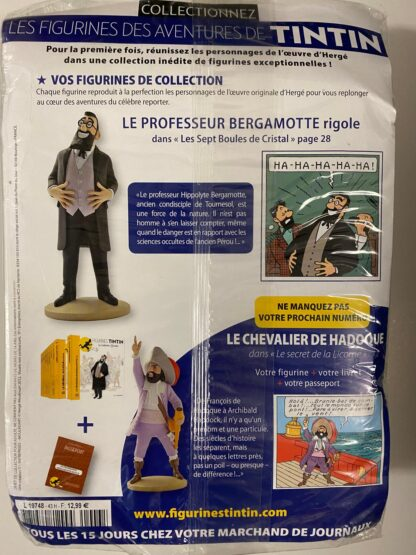 Tintin - Statyett N43 - Le Professeur Bergamotte - RARE
