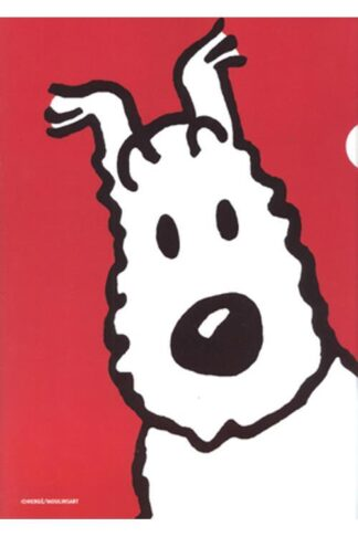 Tintin - Plastficka A4 - Milou - Röd