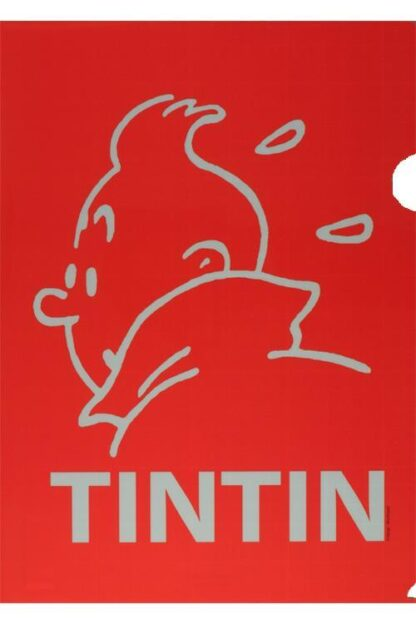 Tintin - Plastficka A4 - Röd