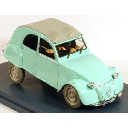 Tintin - 1:24 Modellbil #8 - Dupontarnas Citroen 2CV