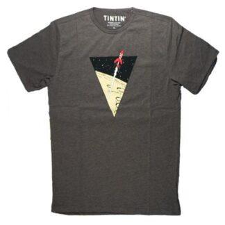 Tintin - T-Shirt - Klassiska månraketen