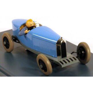 Tintin - 1:24 Modellbil #09 - Blå Amilcar