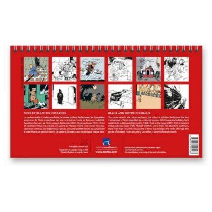 Tintin - Bordskalender 21cm x 12,5cm 2022