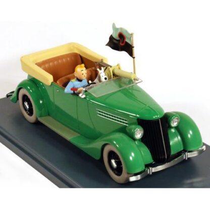 Tintin - 1:24 Modellbil #12 - Bepansrad Ford V8 1936