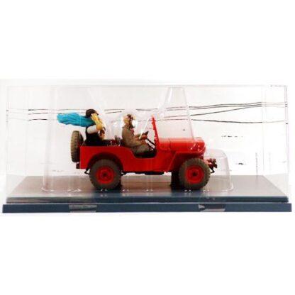 Tintin - 1:24 Modellbil #47 - Röd Jeep Willys