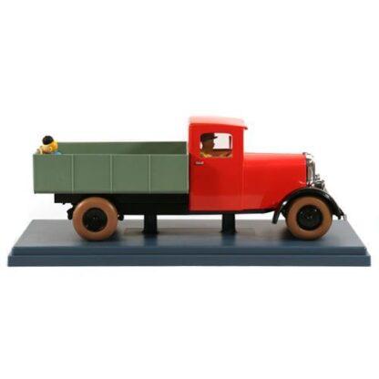 Tintin - 1:24 Modellbil #49 - Röd Lastbil (Blå Lotus)
